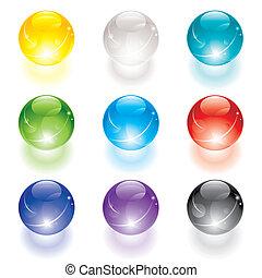 кристалл, мяч