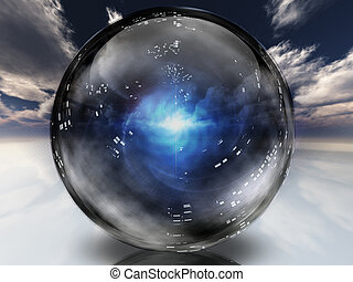кристалл, энергия, в, сфера, contained, загадочный