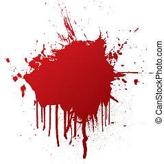 кровь, восклицательный знак