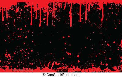 кровь, задний план, восклицательный знак
