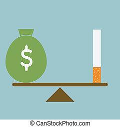 курение, потерять, деньги