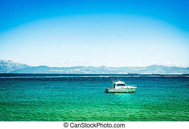 лазурь, воды, yachts, море