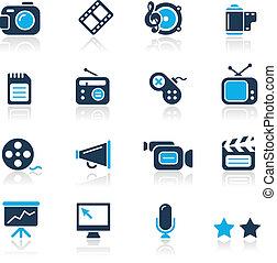 лазурь, мультимедиа, /, icons