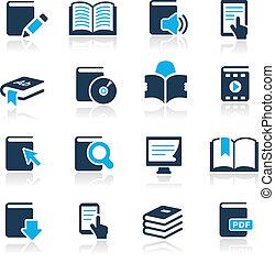 //, лазурь, icons, книга, серии