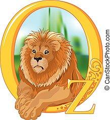 лев, трусливый