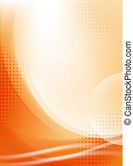 легкий, абстрактные, полутон, задний план, flowing, оранжевый