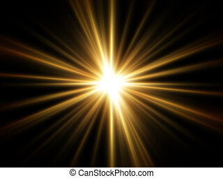 легкий, rays, золотой