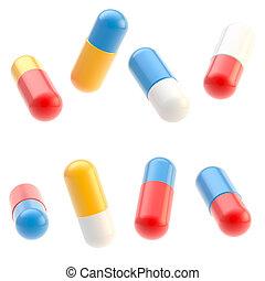 лекарственное средство, белый, pills, isolated