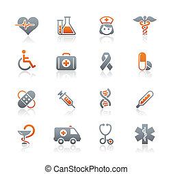 лекарственное средство, &, вереск, забота, icons