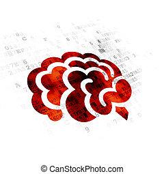 лекарственное средство, головной мозг, concept:, задний план, цифровой