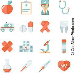 лекарственное средство, забота, здоровье, icons