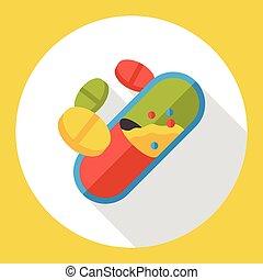 лекарственное средство, квартира, pills, значок