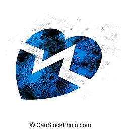 лекарственное средство, сердце, concept:, задний план, цифровой