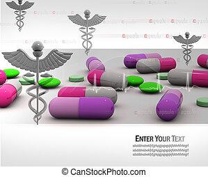 лекарственное средство, символ, капсула
