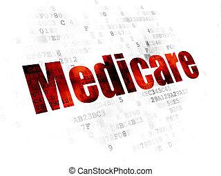 лекарственное средство, страхование здоровья по старости, concept:, задний план, цифровой