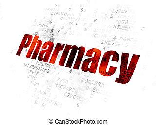 лекарственное средство, цифровой, concept:, задний план, аптека