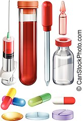 лекарственное средство, шприц, медицинская, задавать