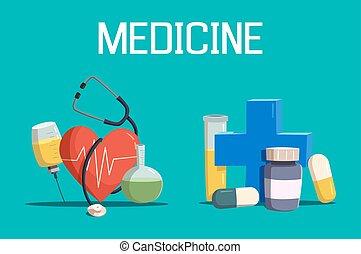 лекарственное средство, шприц, пересекать, таблетка, сердце