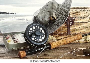 летать, шестерня, воды, ловит рыбу, таблица, шапка