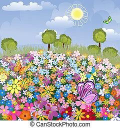 летное поле, цветок