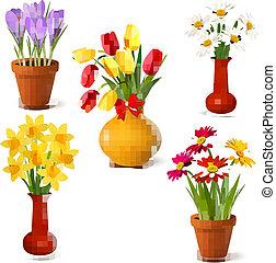 лето, весна, цветы, красочный