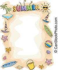 лето, задний план, болван