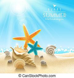 лето, иллюстрация, holidays