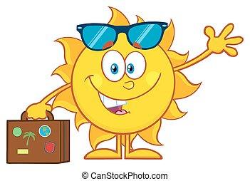 лето, милый, солнечные очки, солнце