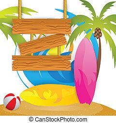 лето, серфинг, лагерь