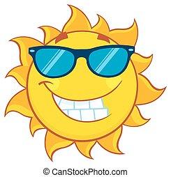 лето, солнечные очки, солнце