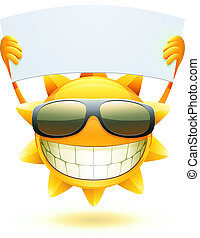 лето, счастливый, солнце