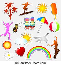 лето, stickers