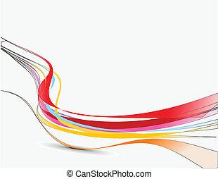 линия, абстрактные, волна