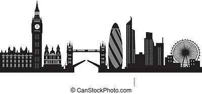 линия горизонта, лондон
