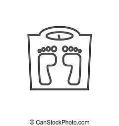линия, масштаб, weighing, icon.