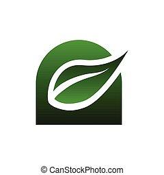 лист, логотип, дизайн