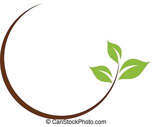 лист, логотип, органический