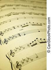 лист, музыка
