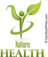 лист, природа, вектор, зеленый, здоровье, забота, логотип, значок