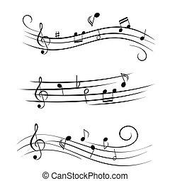 лист, notes, музыка, музыкальный