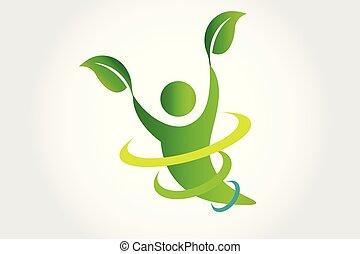 логотип, вектор, здоровье, природа