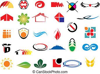 логотип, вектор, elements