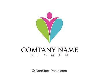 логотип, забота, здоровье, знак