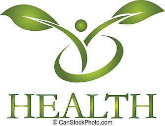 логотип, здоровый, вектор, жизнь