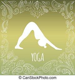 логотип, йога