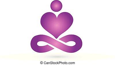 логотип, йога, человек