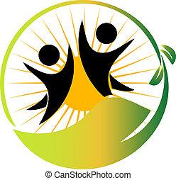 логотип, команда, вектор, природа