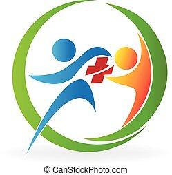 логотип, командная работа, здоровье, забота
