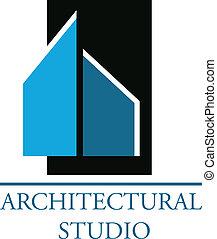 логотип, компания, архитектурный