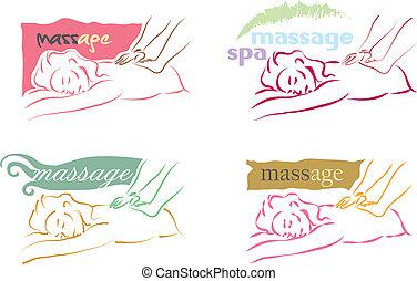 логотип, массаж